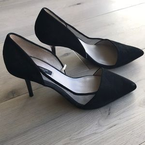 Zara suede pumps